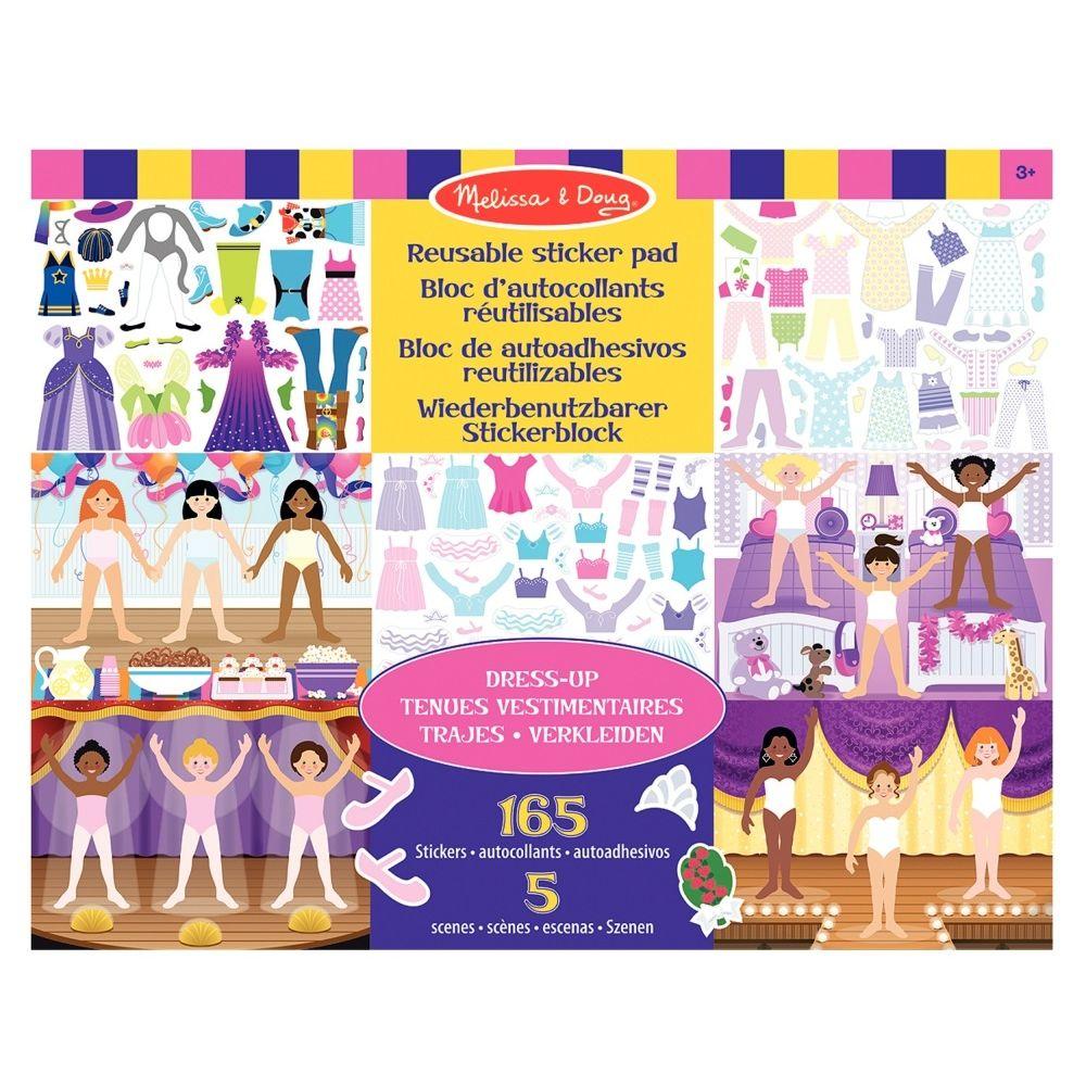 Stickers repositionnables tenues vestimentaires - Pochette de 165