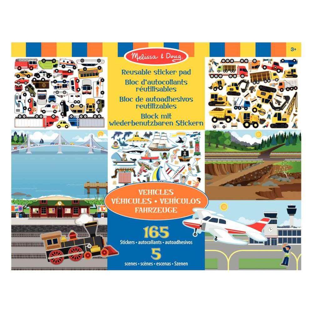 Stickers repositionnables les véhicules - Pochette de 165
