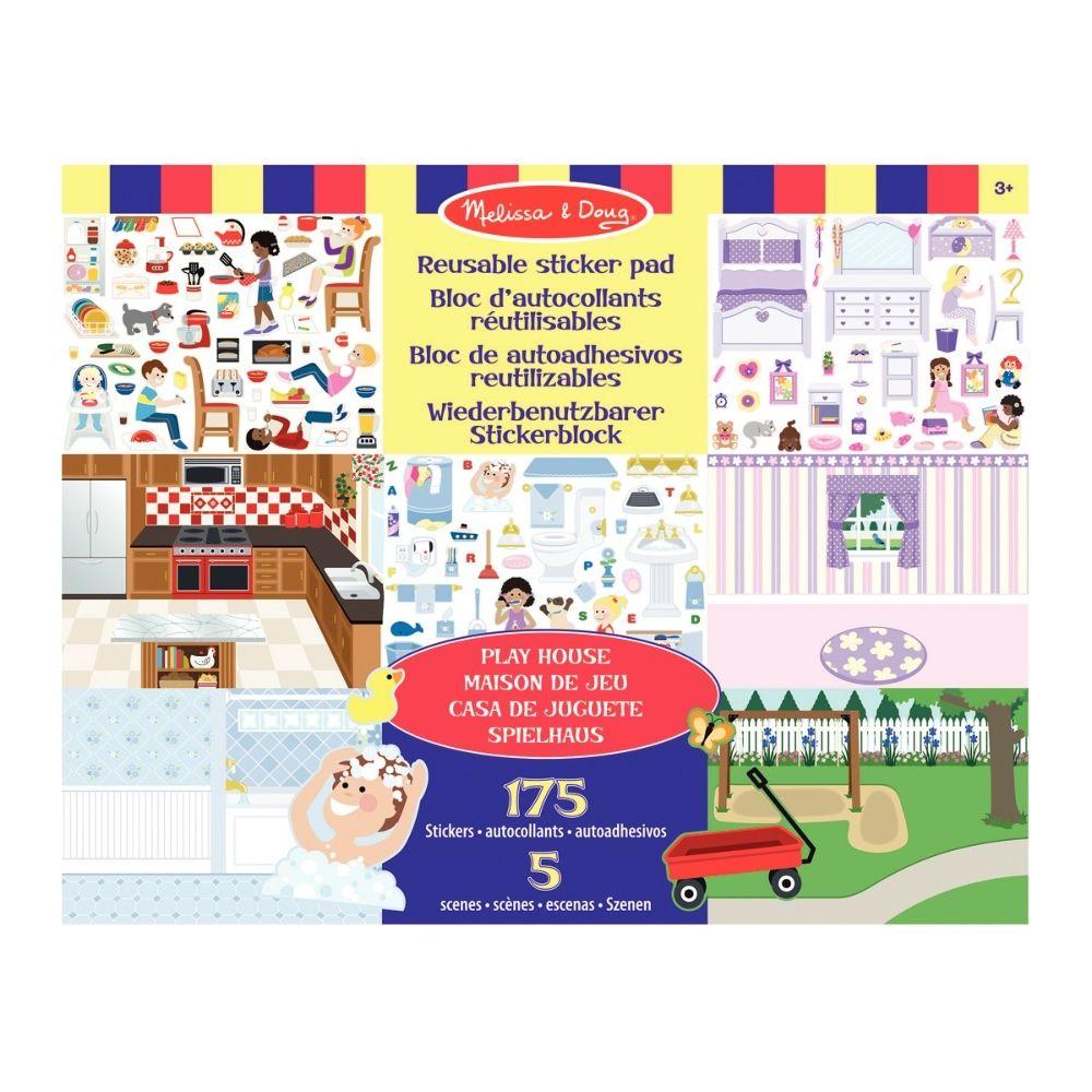 Stickers repositionnables les différents espaces de la maison - Pochette de 175