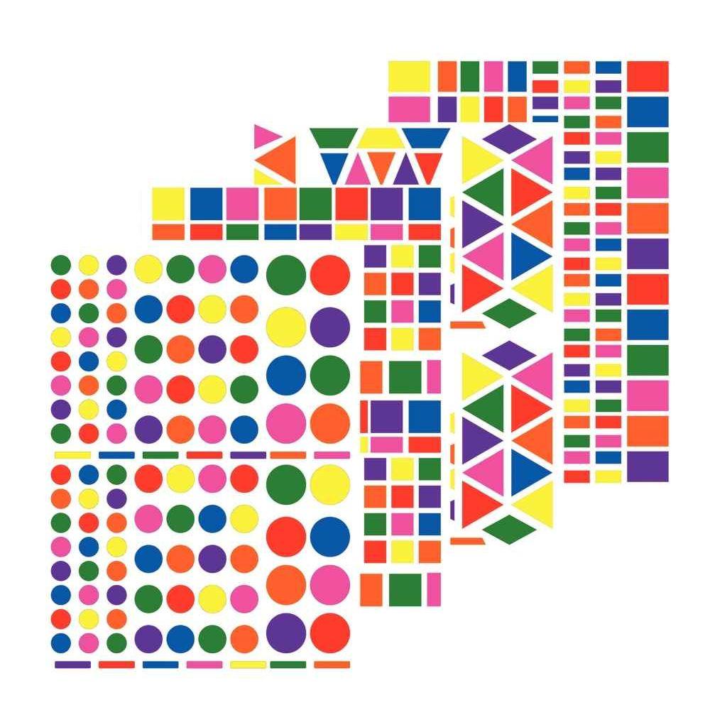 Kit de 4 affiches géantes thème La Ferme + 48 planches de gommettes géométriques repo