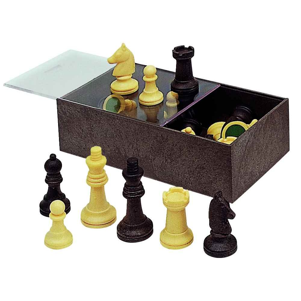 Set de 32 pions d'échecs en plastique