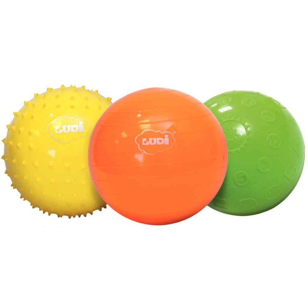 Set de 3 balles sensorielles d.13cm
