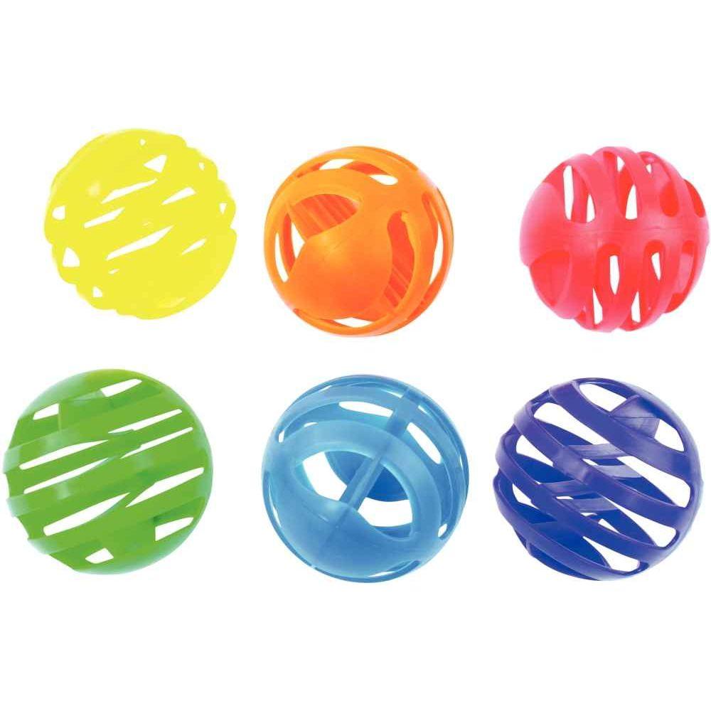 Balles gaufre d.7.5cm - Lot de 6