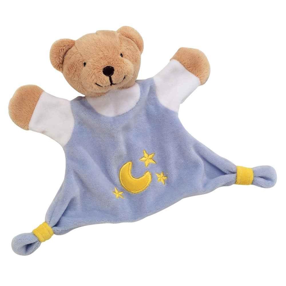 Doudou ours bleu en velours