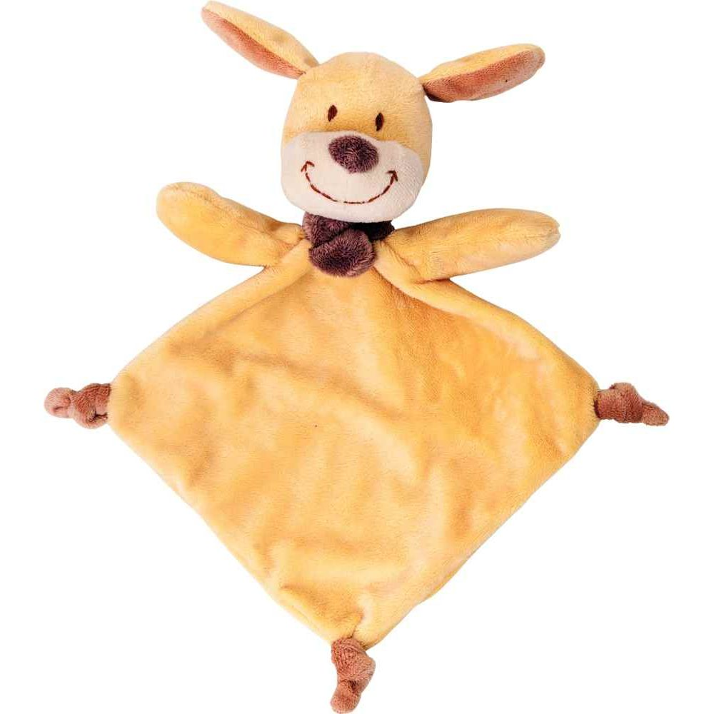 Doudou chien jaune en velours
