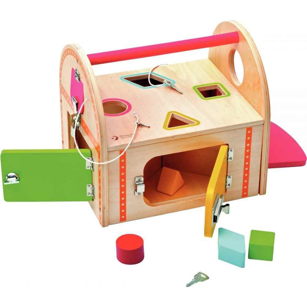maxi maison des serrures et des formes apprentissage des formes et des couleurs sur planet eveil. Black Bedroom Furniture Sets. Home Design Ideas