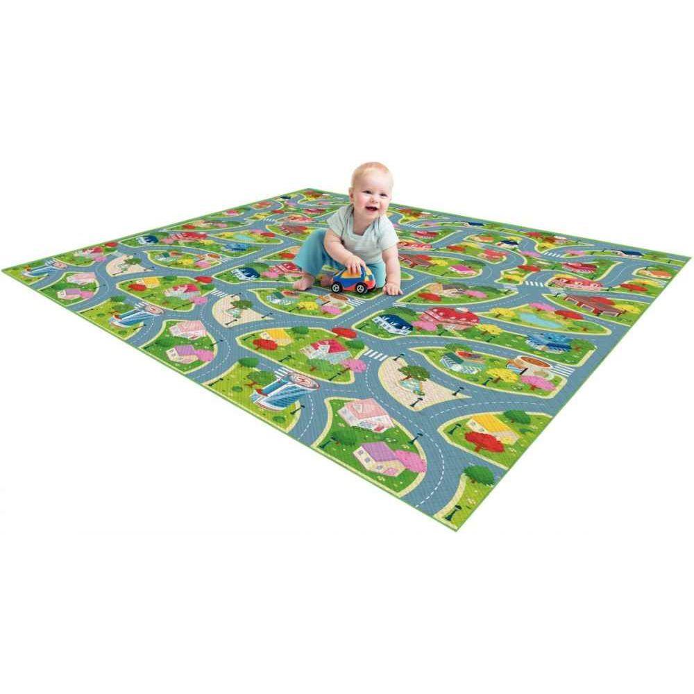Tapis de jeux bébé 100x150 Ville / Ferme