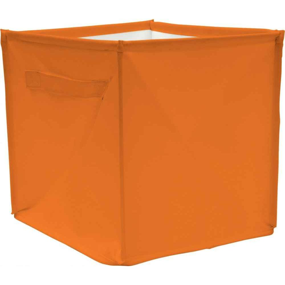 cube de rangement 28x28x28 cm orange house of kids case et bac de rangement sur planet eveil. Black Bedroom Furniture Sets. Home Design Ideas