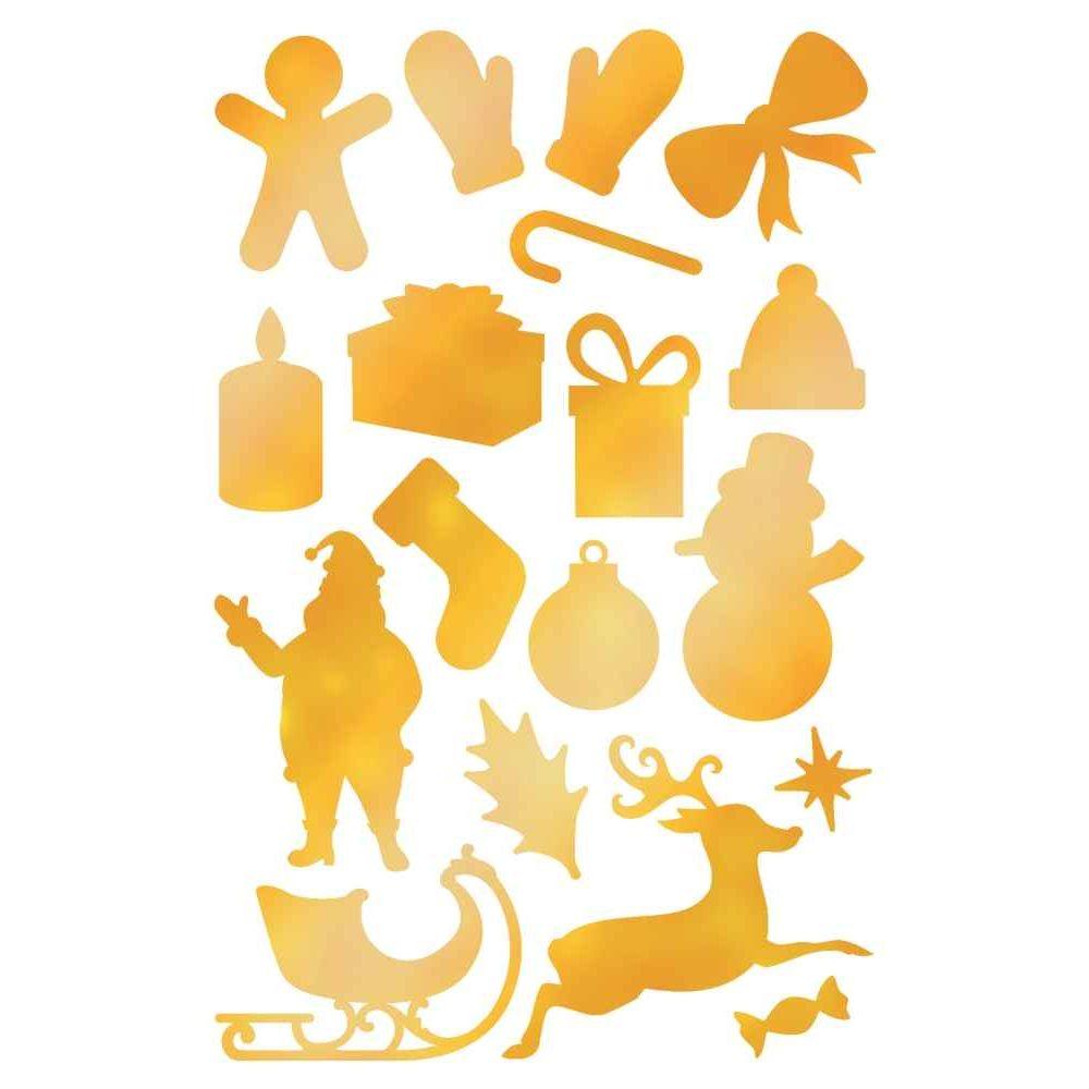 Gommettes de Noël or et argent - Blister de 550