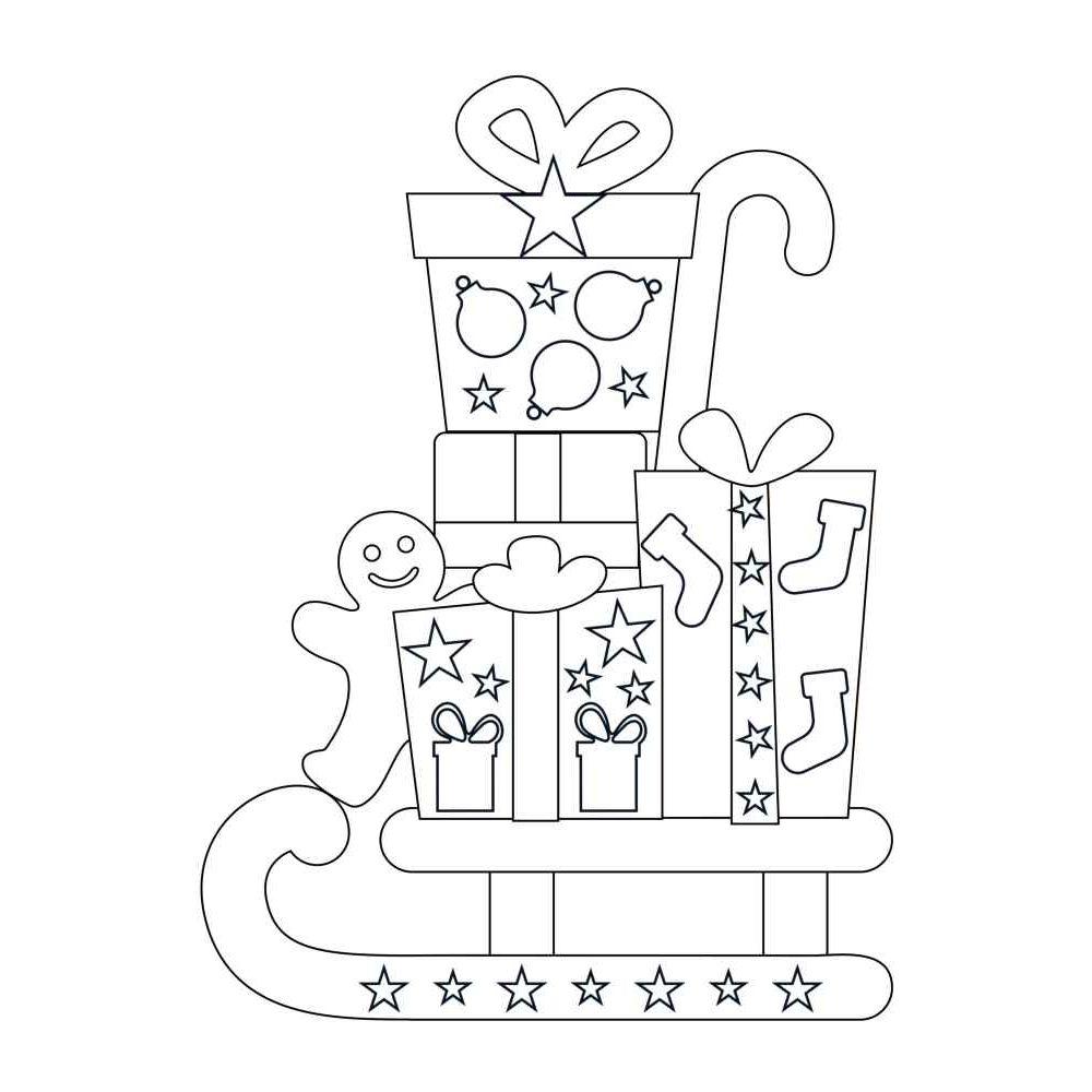 Formes de Noël à colorier et à sticker à l'aide des gommettes géométriques - Pochette