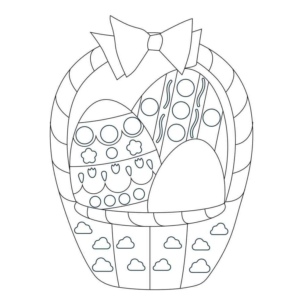 Formes de Pâques à colorier et à sticker à l'aide des gommettes géométriques - Pochet