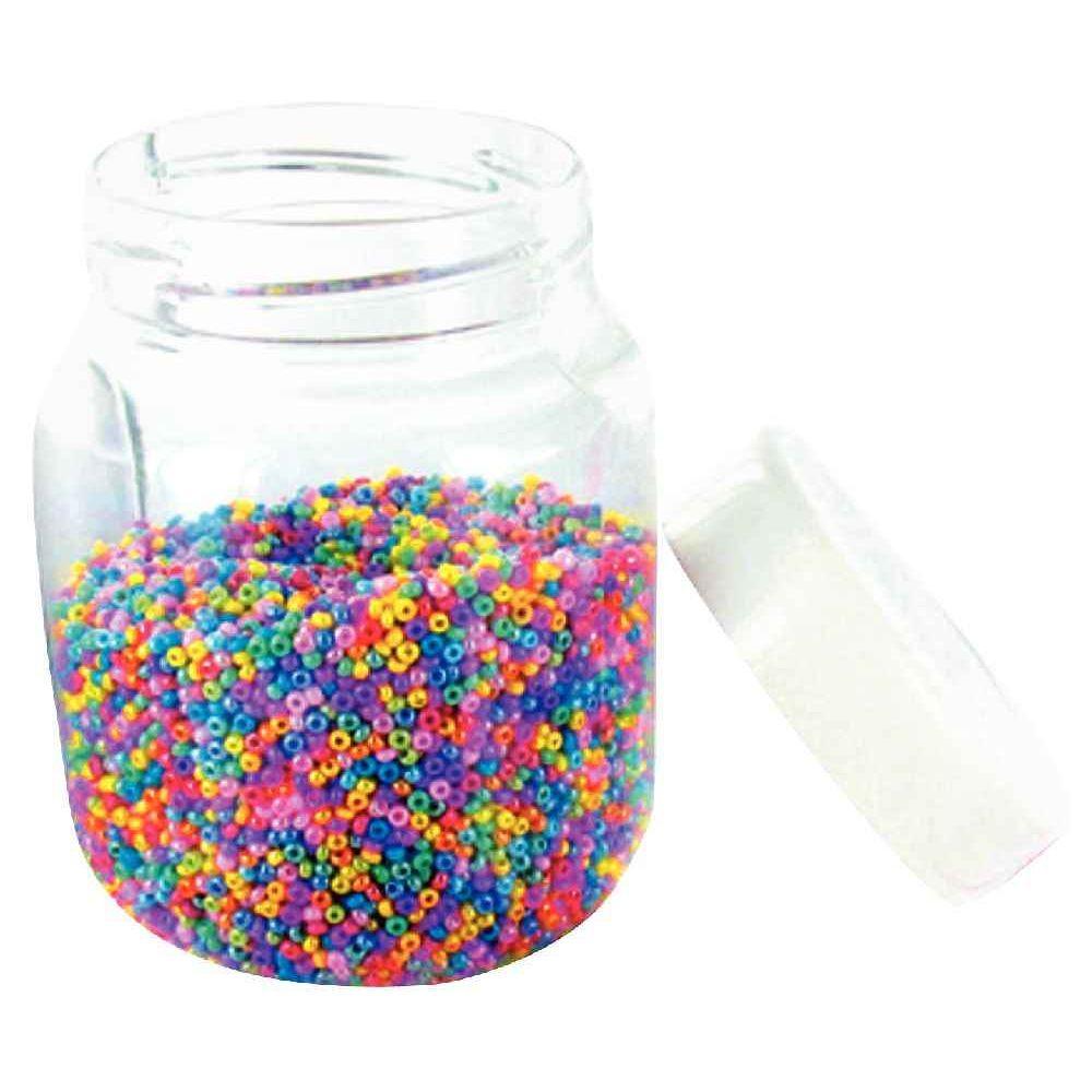 perle rocaille nacre sachet de 500g perles sur planet eveil. Black Bedroom Furniture Sets. Home Design Ideas