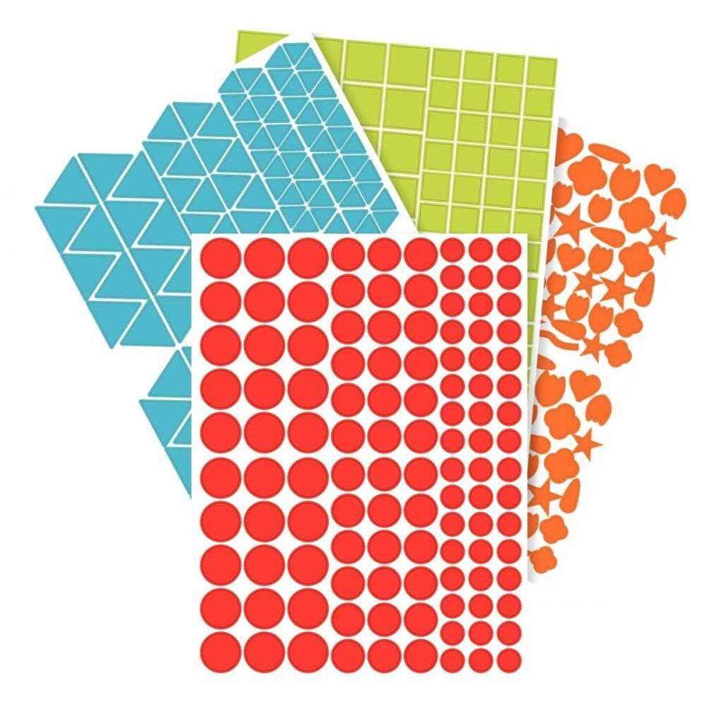 Gommette géométrique assortie, repositionnable - Pochette de 7920