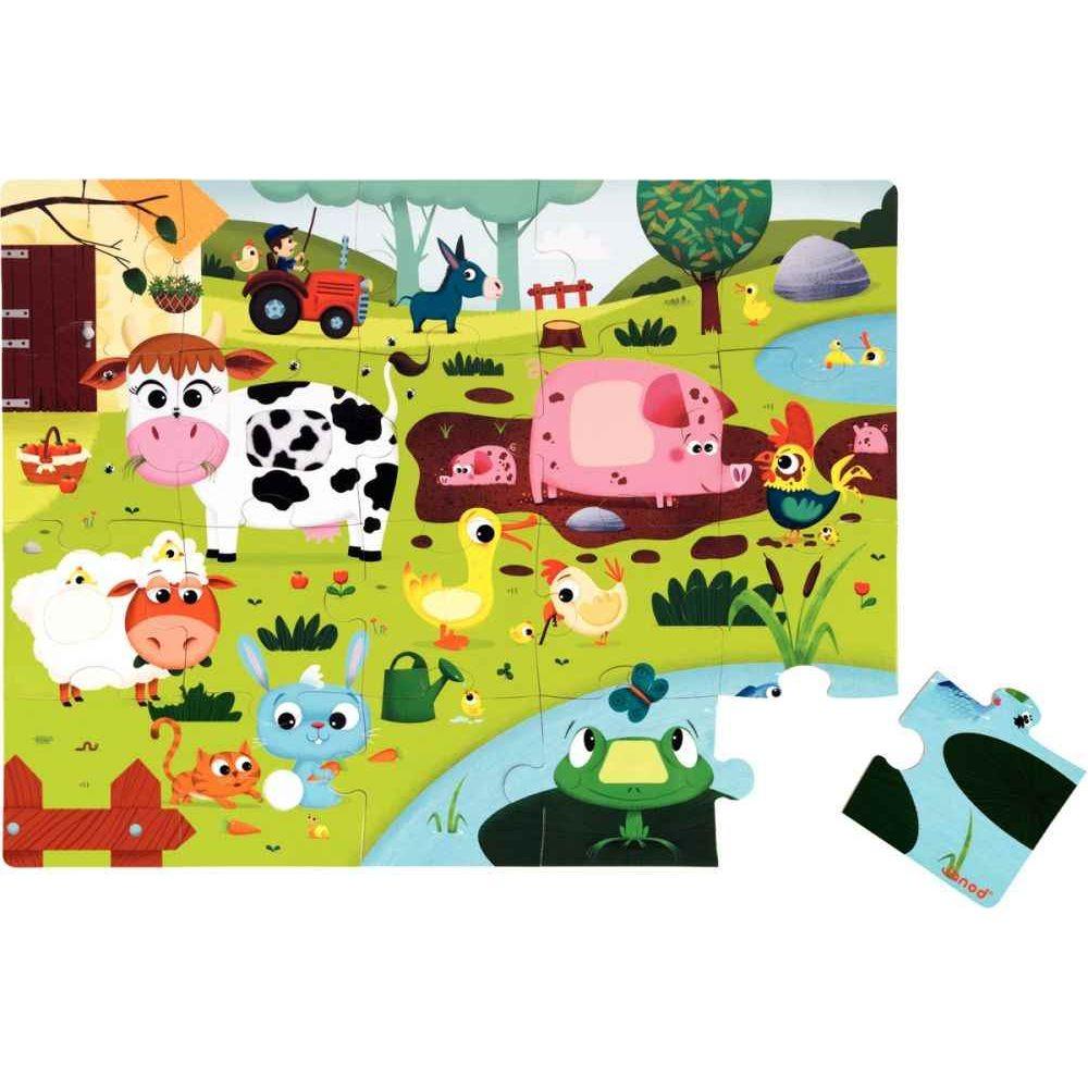 Maxi puzzle tactile 20 pièces La Ferme