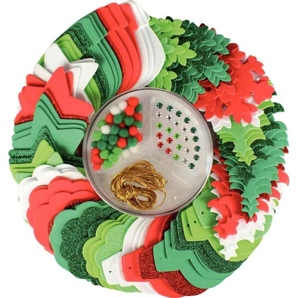 Kit de 532 pièces de décorations de Noël en mousse