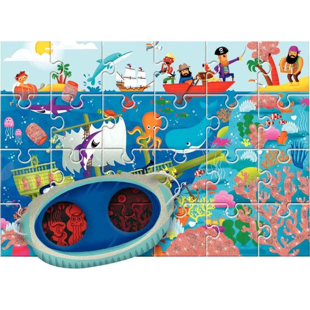 Puzzle d'observation de 24 pièces la mer + masque