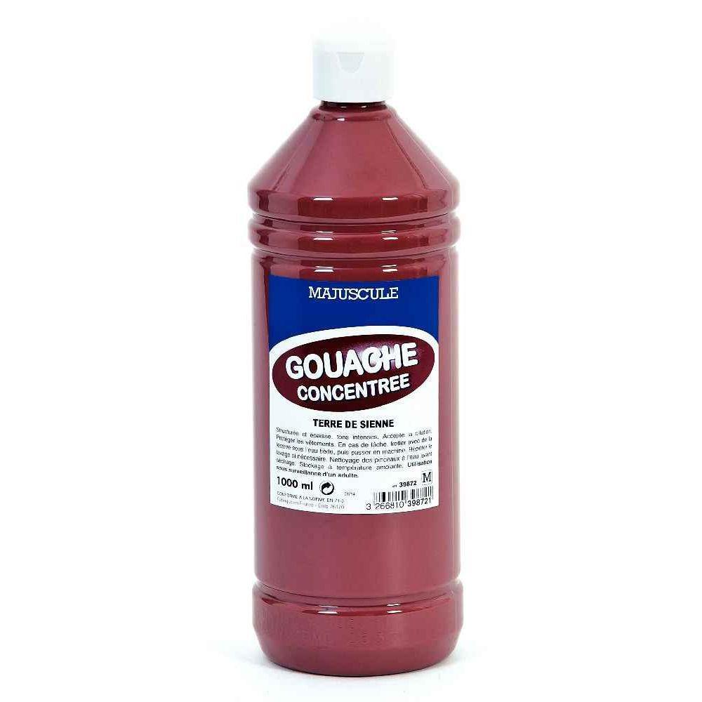 Gouache liquide superieur terre de sienne - Flacon 1L