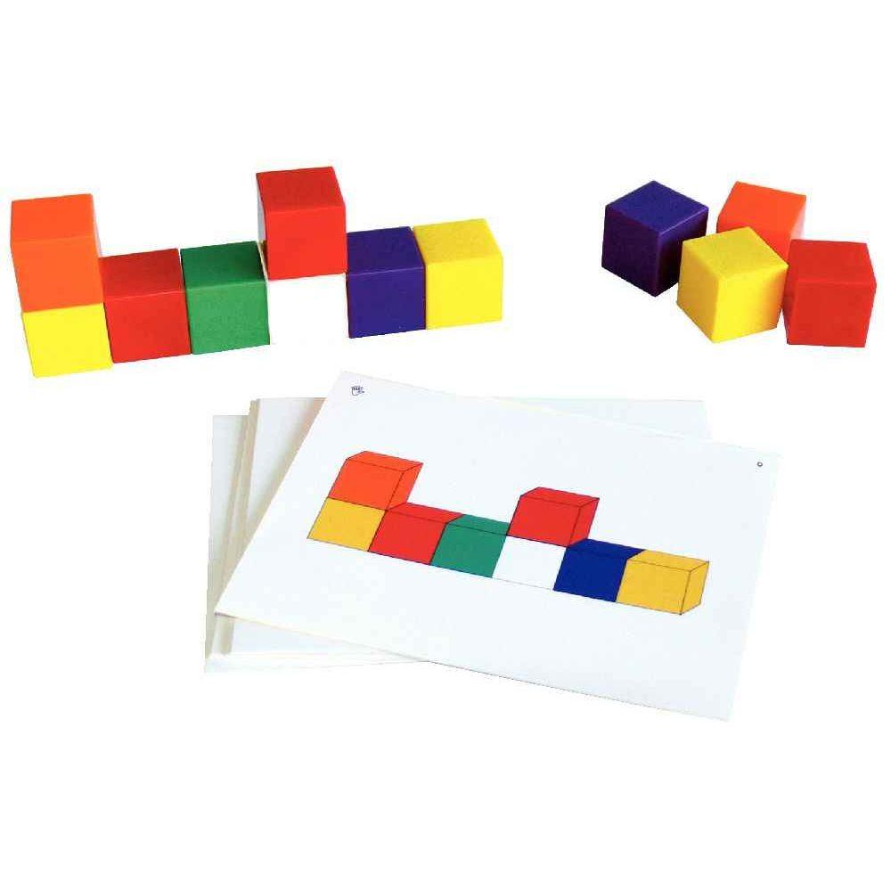 Cubes de géometrie + fiches - Lot de 75