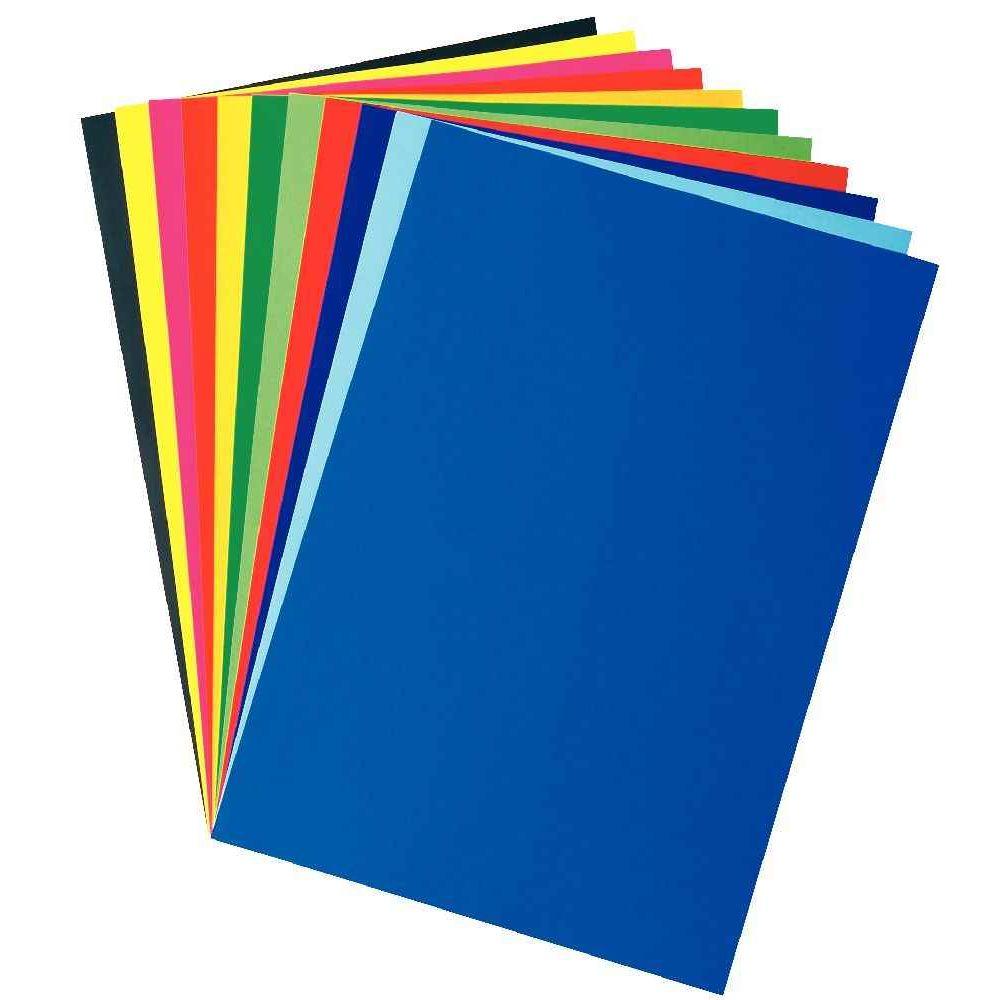 Feuilles affiche 80g 60x80 cm couleurs assorties for Porte vue 60 feuilles