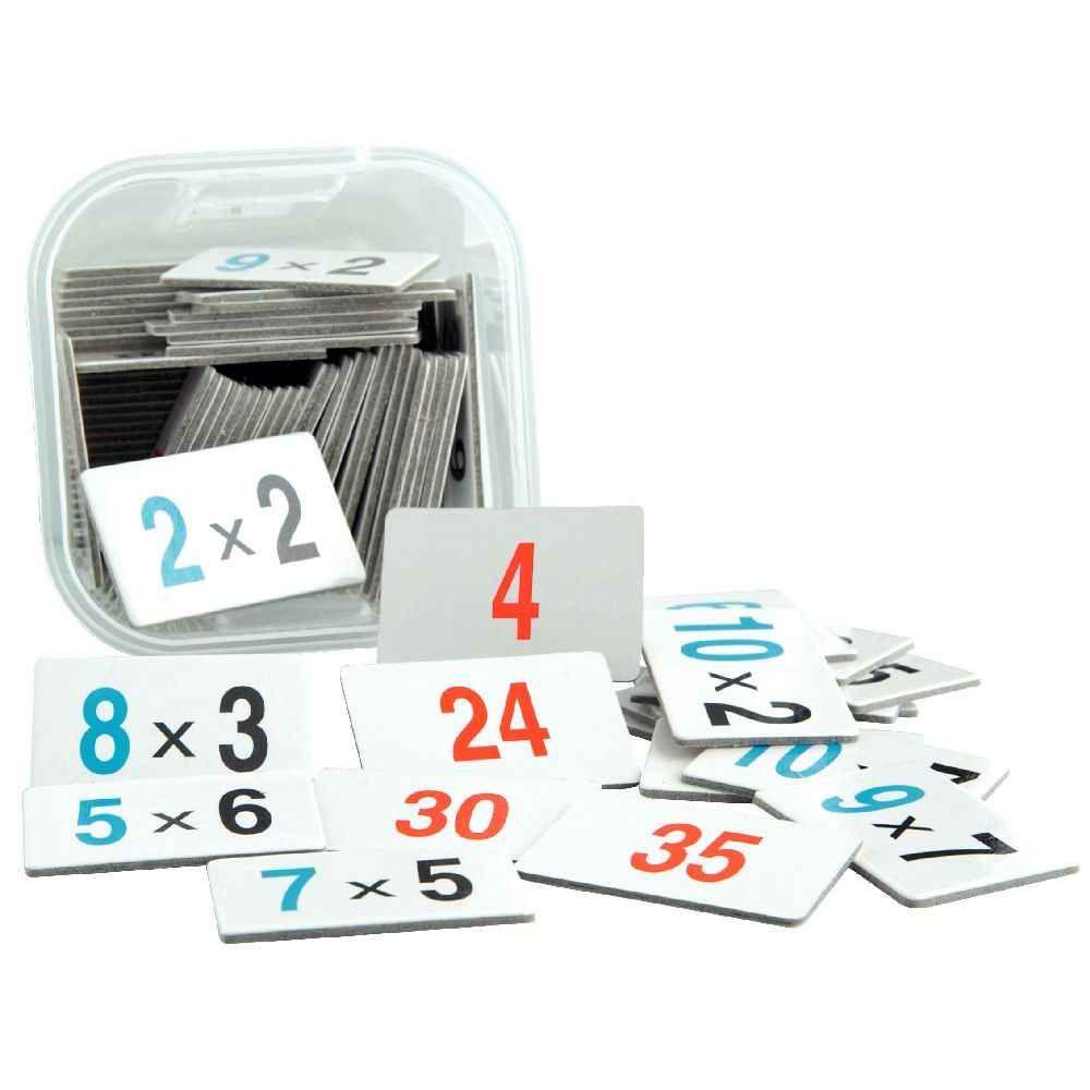 Boîte de jeu apprendre à multiplier