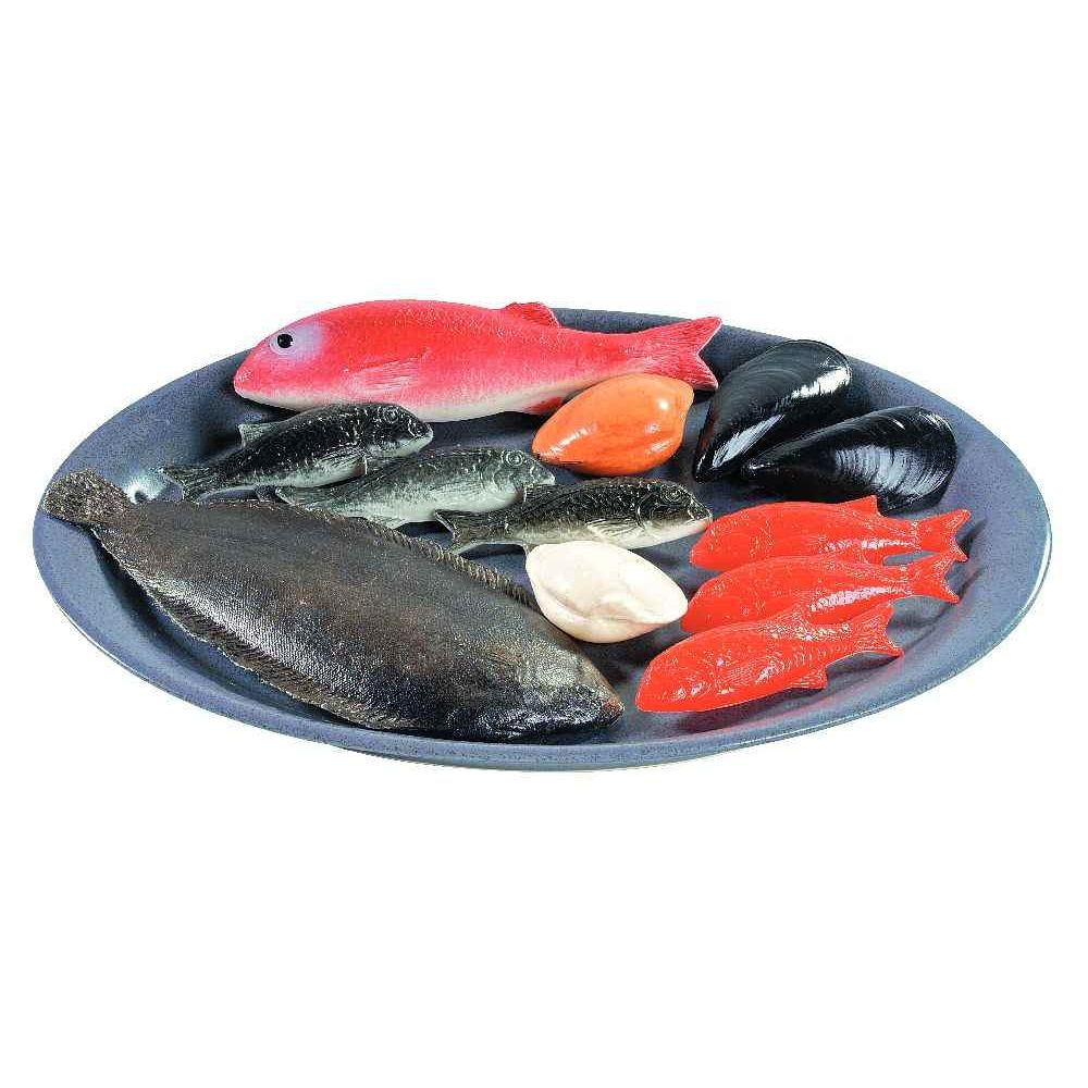 Poissons en plastique sachet de 12 aliments en for Bocal plastique poisson