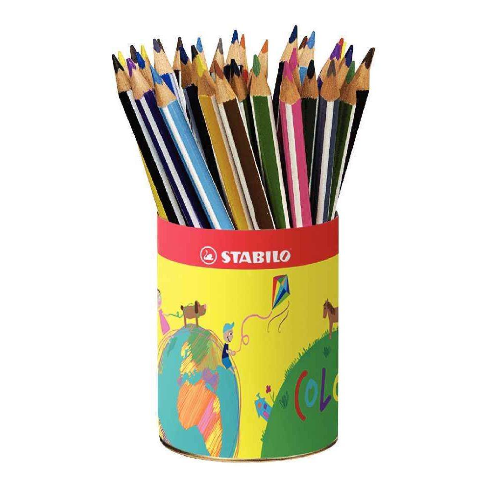 Crayons de couleur triangulaires pot de 38 stabilo - Tuto trousse crayons de couleur ...