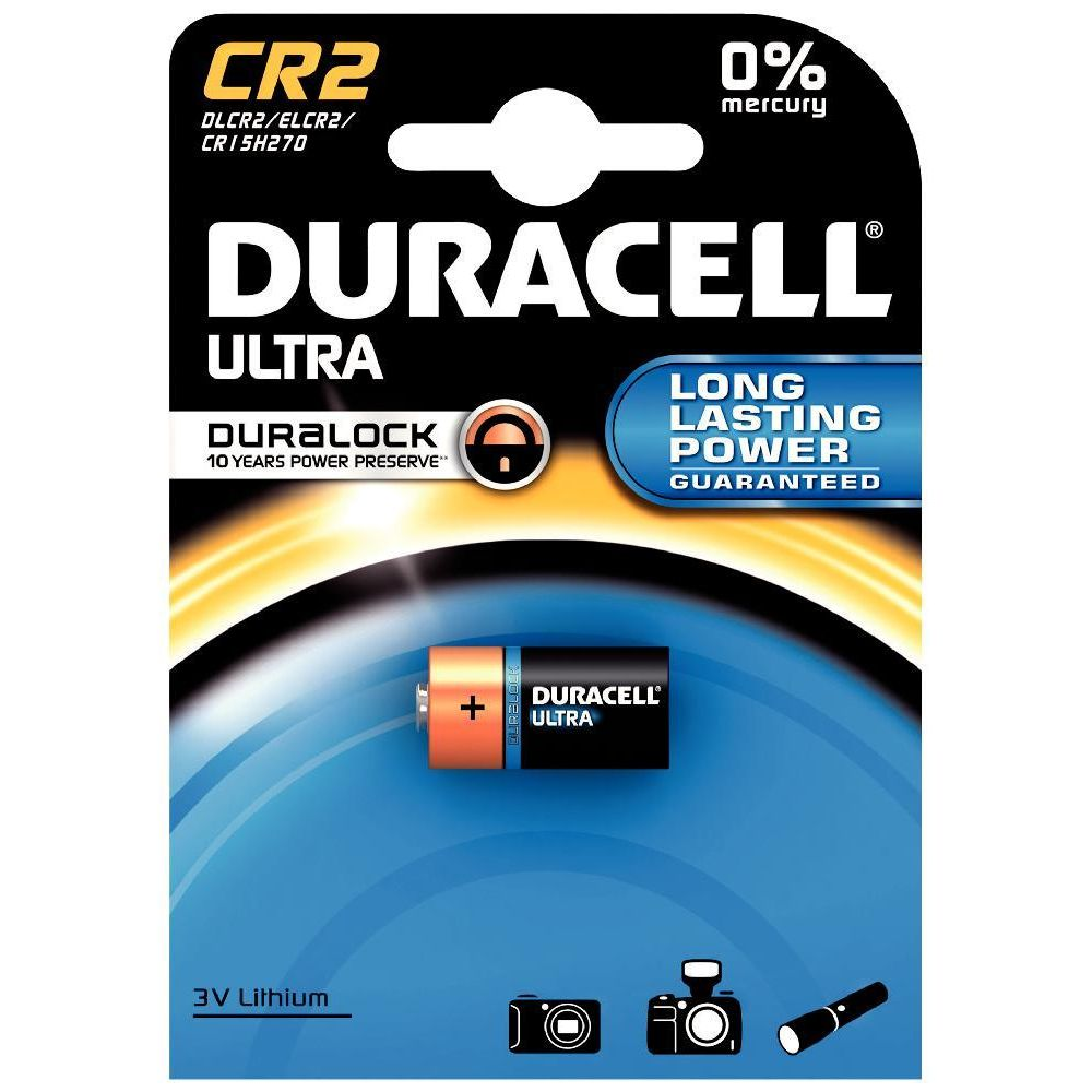 Pile lithium 3V CR2 Duracell Ultra Photo
