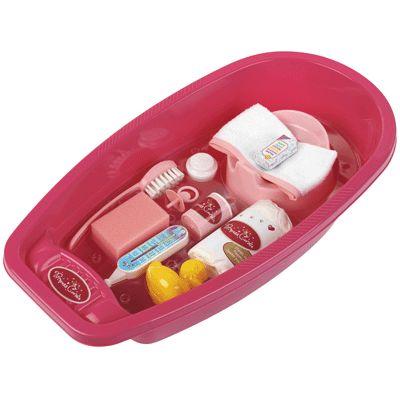 Baignoire + accessoires pour poupées