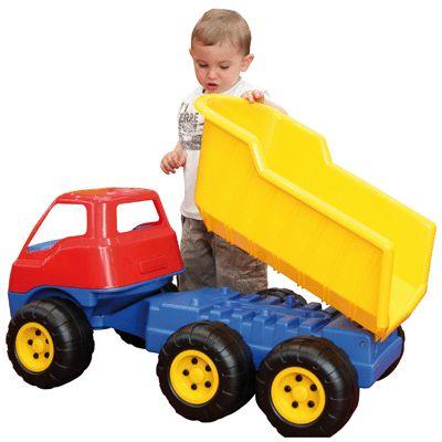 Camion g ant benne basculante dantoy jeux d 39 eau et for Jouet exterieur 3 ans