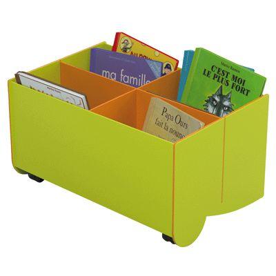 bac livres sur roulette hauteur 33 cm petit mod le paperflow coin biblioth que sur. Black Bedroom Furniture Sets. Home Design Ideas
