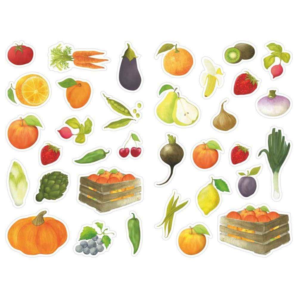 Gommettes fruits et l gumes pochette de 408 maildor - Fruit ou legume en y ...