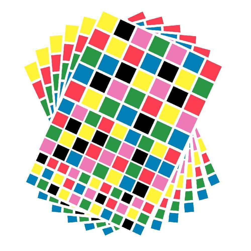 Gommettes carrées - Pochette de 2 040