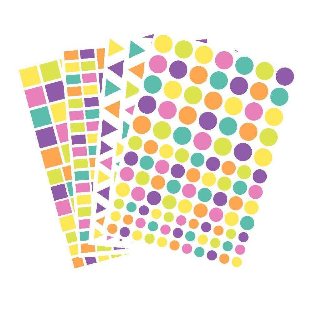 Gommettes géométriques pastels - Maxi pochette de 4 400