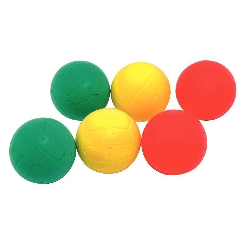 Balle en mousse brevet sportif - Diamètre 63 mm - Lot de 6