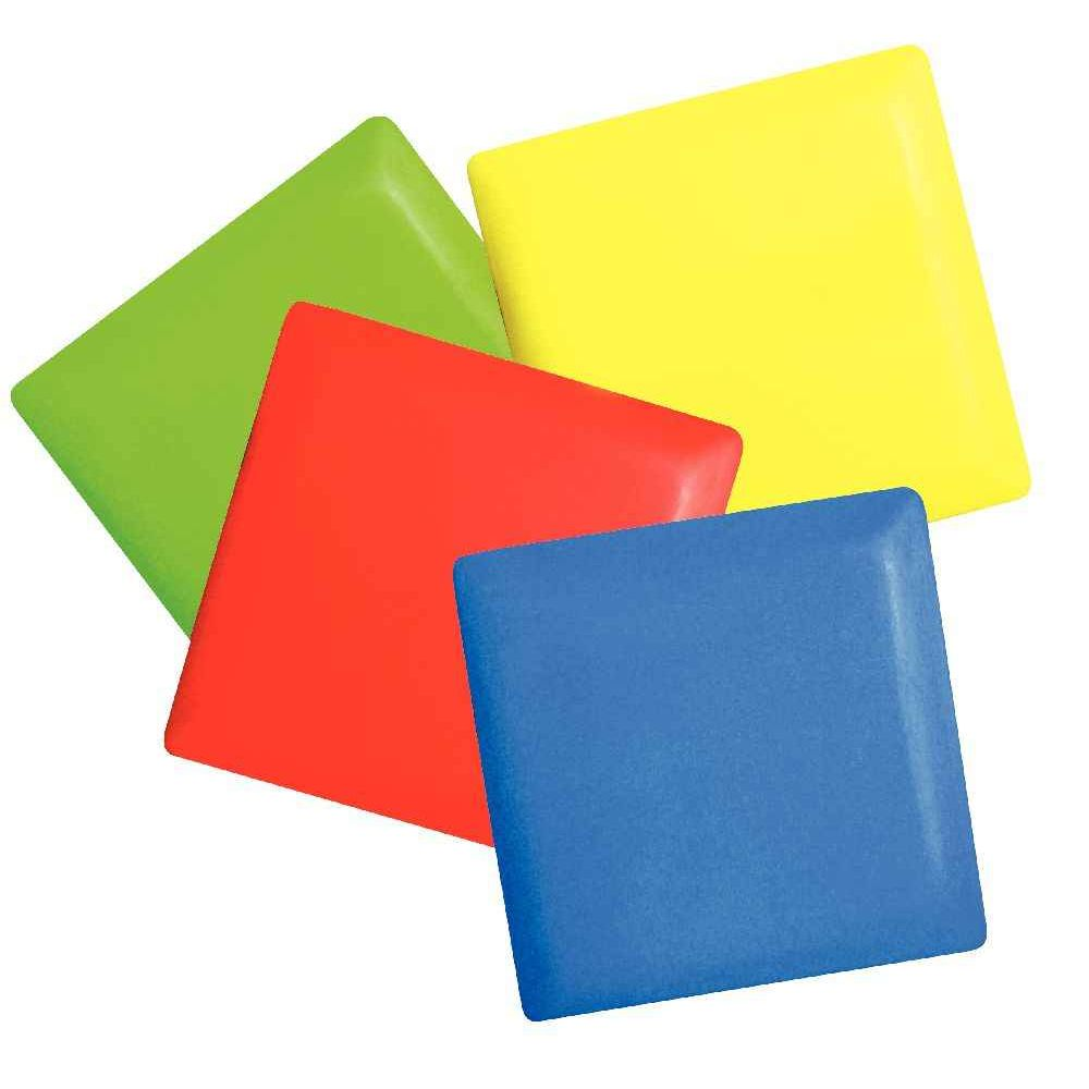 Galet carrés rouge pour marelle - Lot de 2