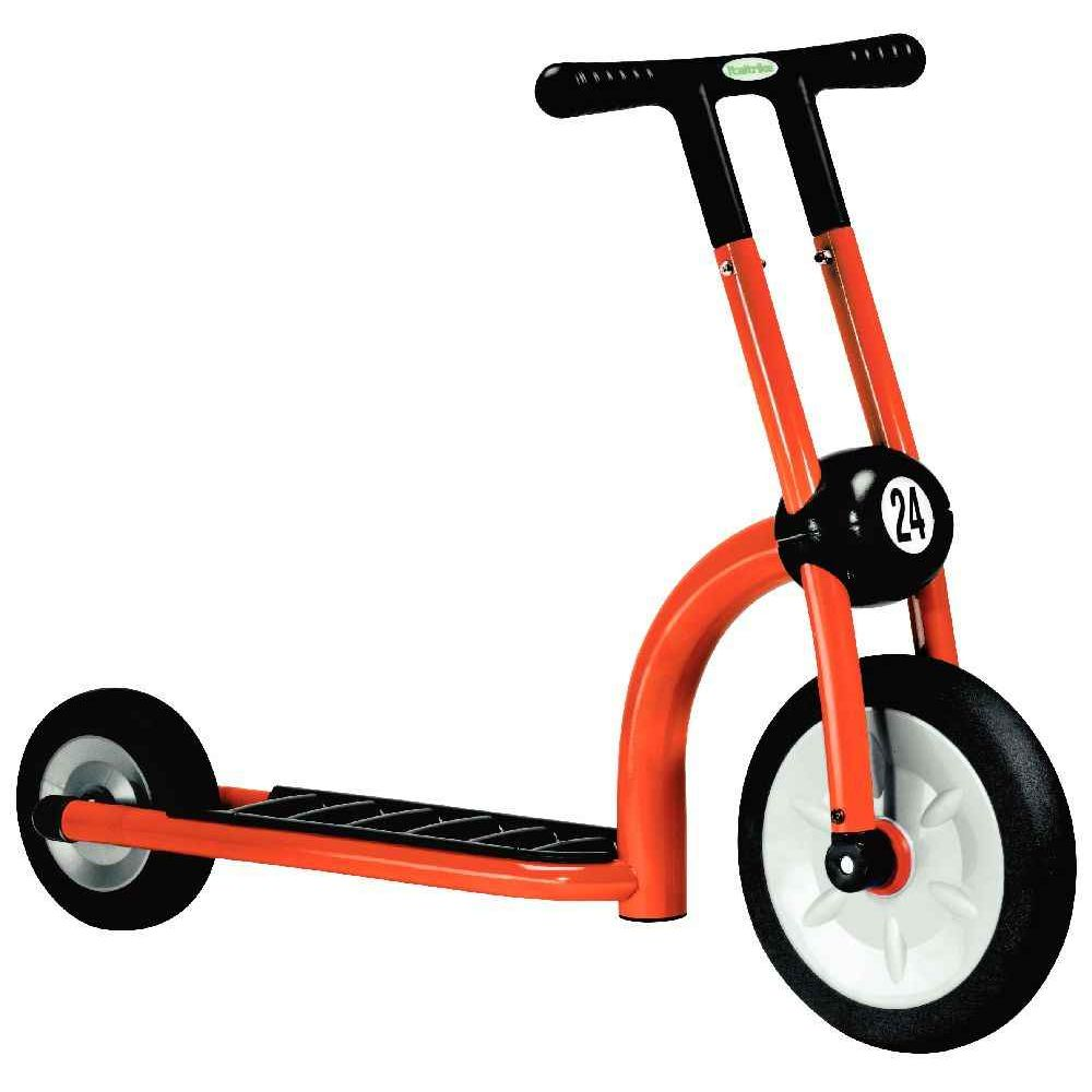 trottinette 2 roues 2 4 ans orange italtrike. Black Bedroom Furniture Sets. Home Design Ideas