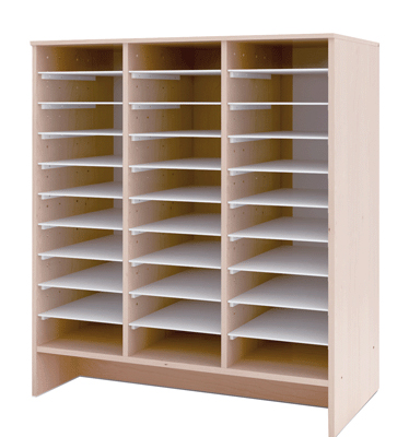 Meuble de rangement et de classement en bois de 30 cases for Meuble rangement livre
