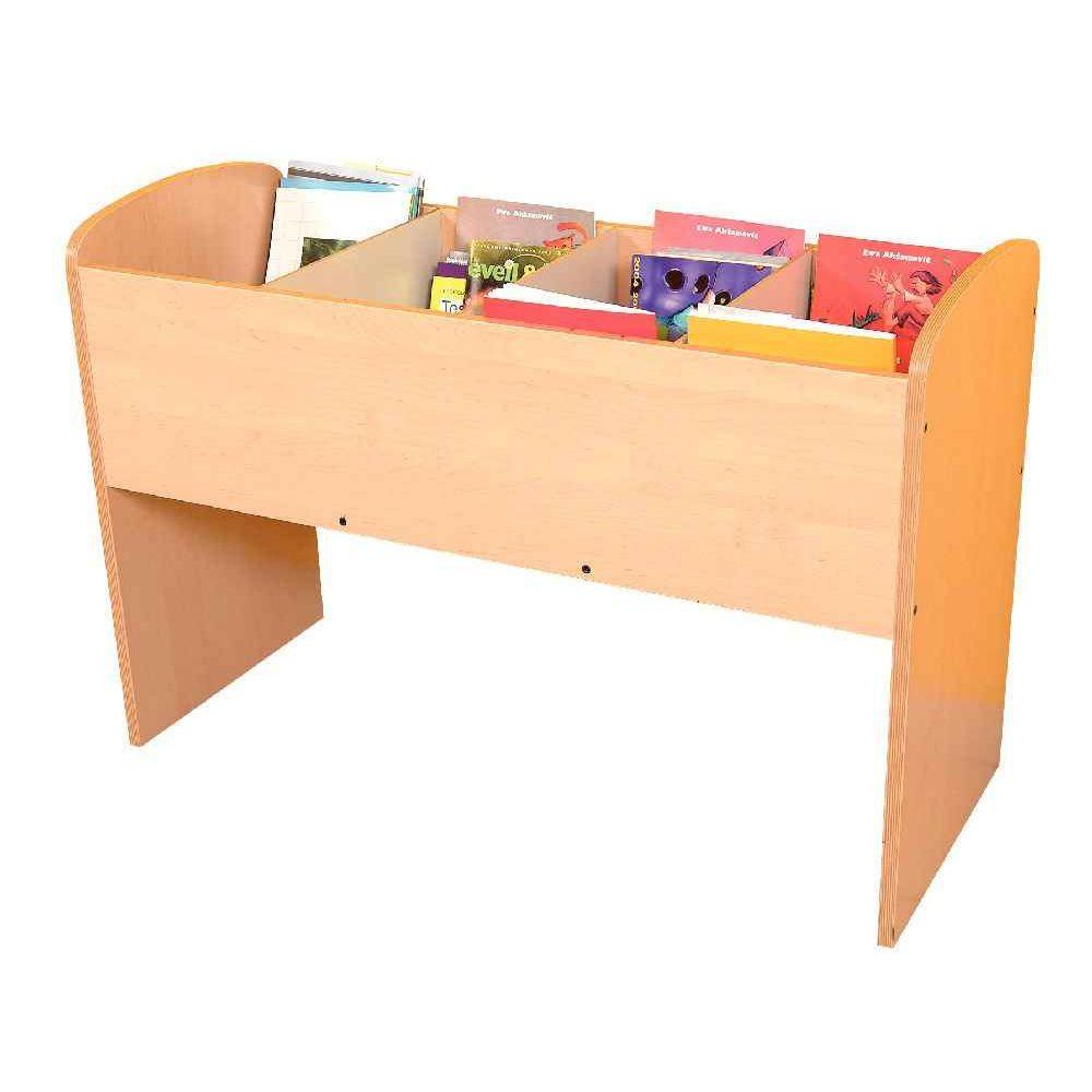 Bac à livres en bois 4 cases