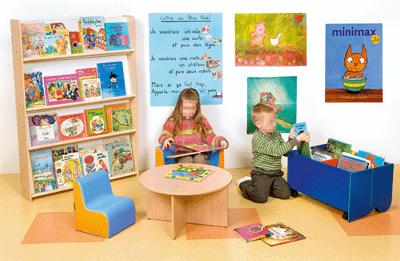 Biblioth que murale plan inclin 4 niveaux nowa for Plan bibliotheque murale