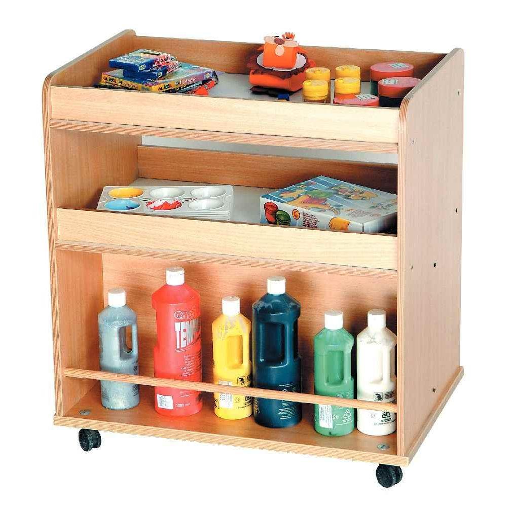 meuble double face en bois pour accessoires de peinture petit mod le nowa szkola coin. Black Bedroom Furniture Sets. Home Design Ideas