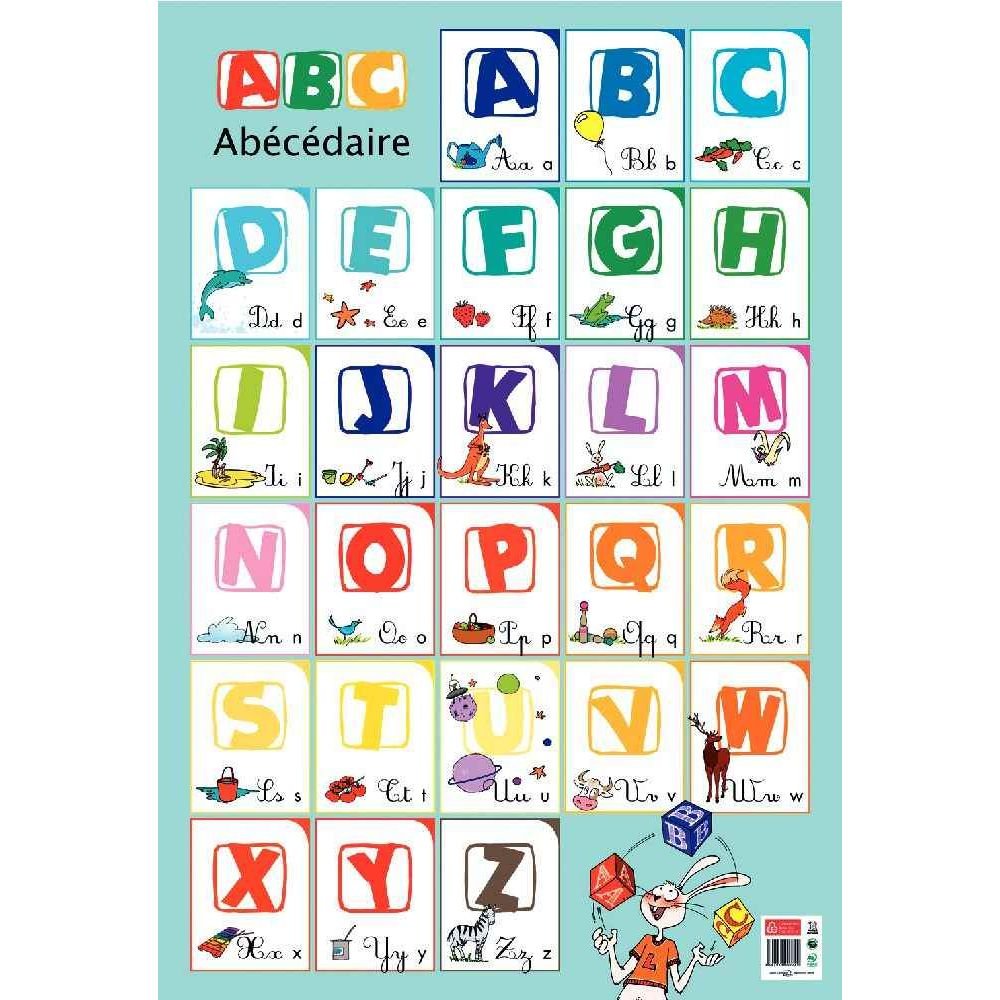 poster p dagogique en pvc 76x52 cm l 39 alphabet bouchut grandremy apprendre lire et. Black Bedroom Furniture Sets. Home Design Ideas