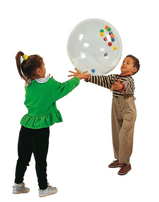 promotion Ballon géant Activity Ball transparent - Diamètre 50 cm