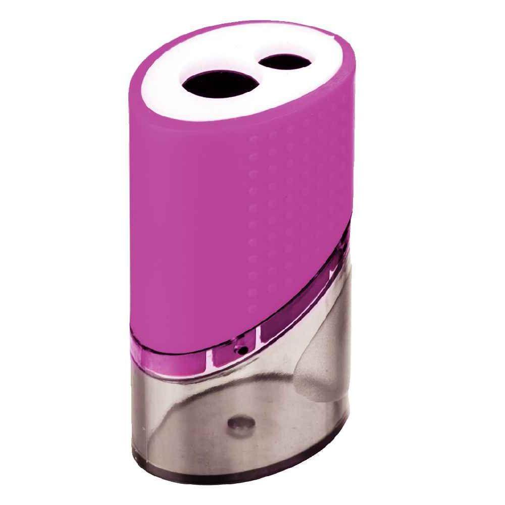 Taille-crayons en métal avec réserve - 2 usages