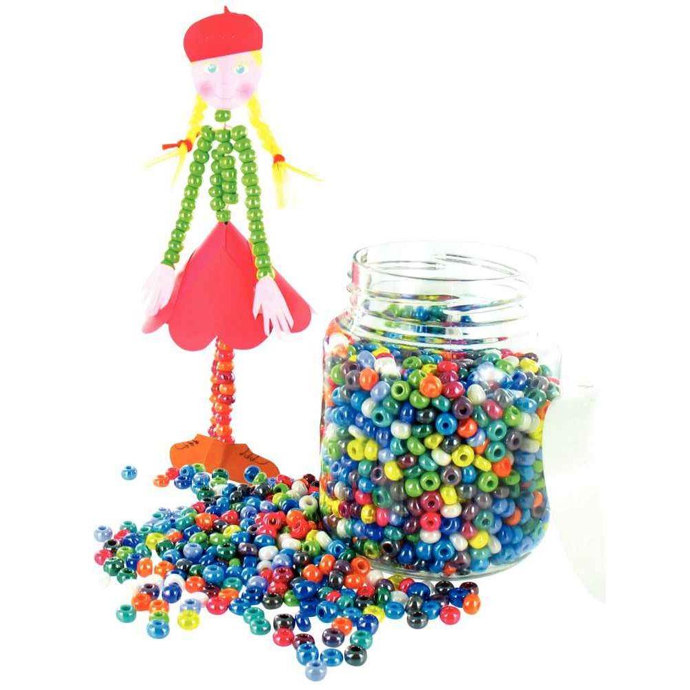 Perles cassis (roc 5°) lustrees, petit modele - Bocal de 500g
