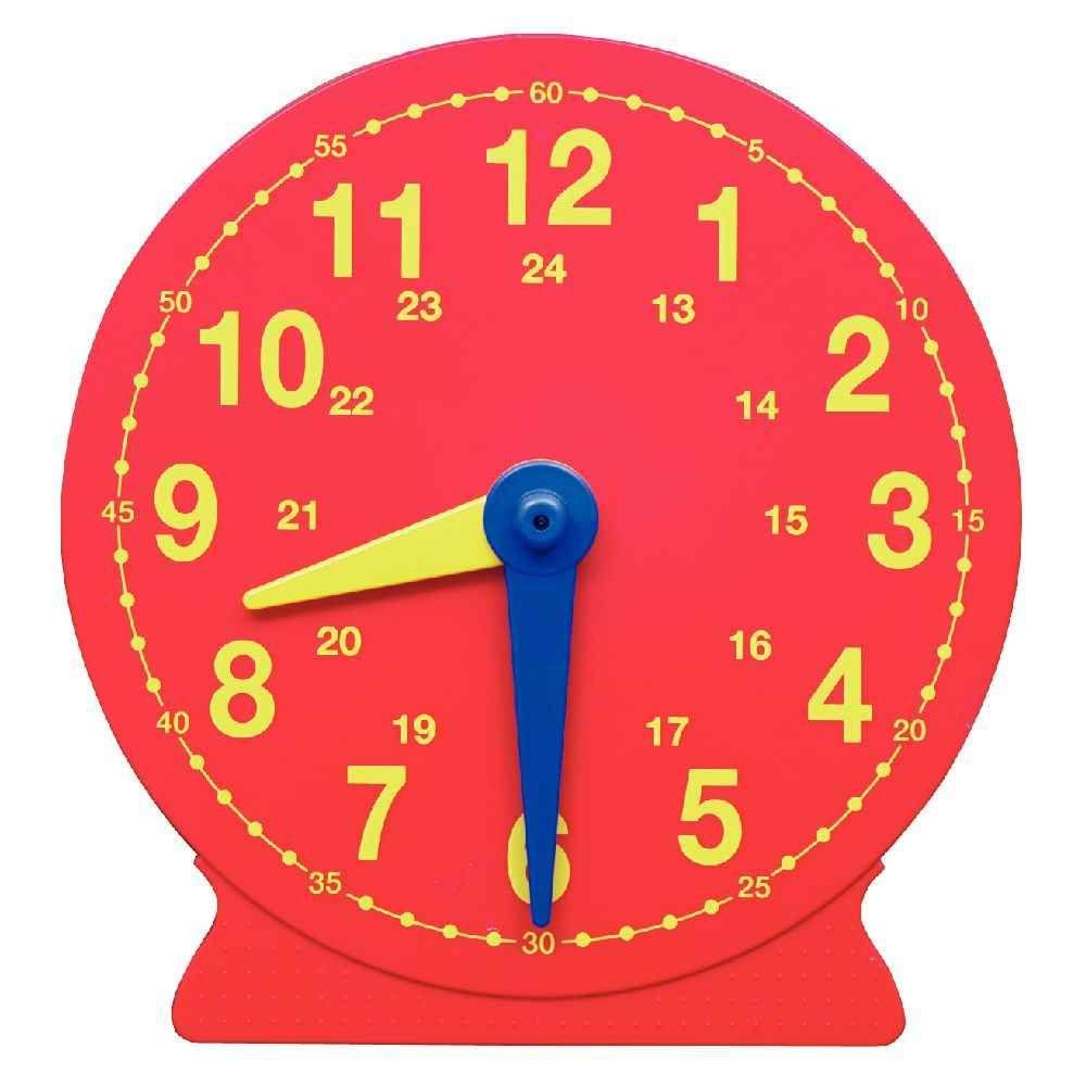 horloge magn tique g ante 41 cm vinco educational apprendre le temps et l 39 heure sur planet. Black Bedroom Furniture Sets. Home Design Ideas