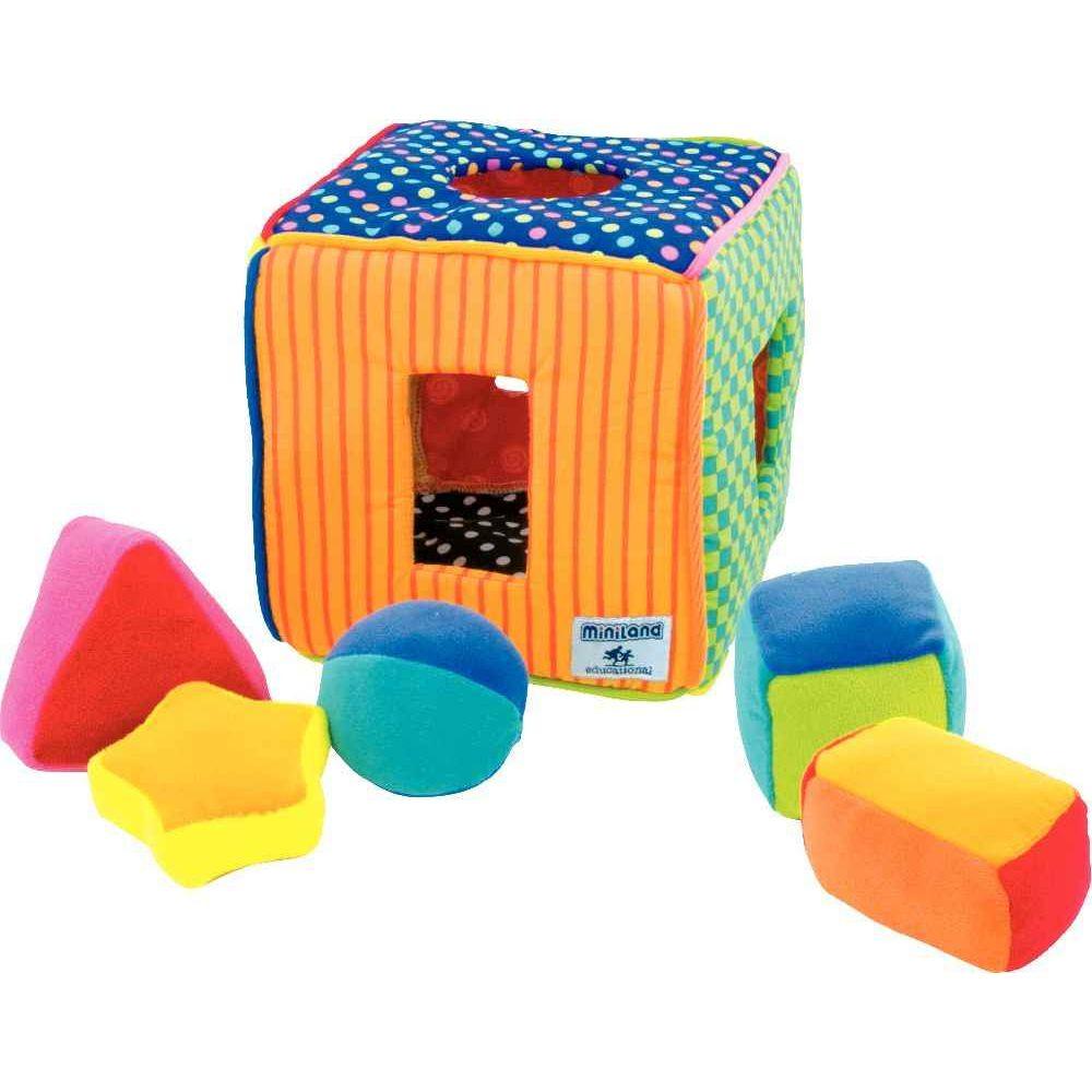 cube d 39 activit s en tissu miniland apprentissage des. Black Bedroom Furniture Sets. Home Design Ideas