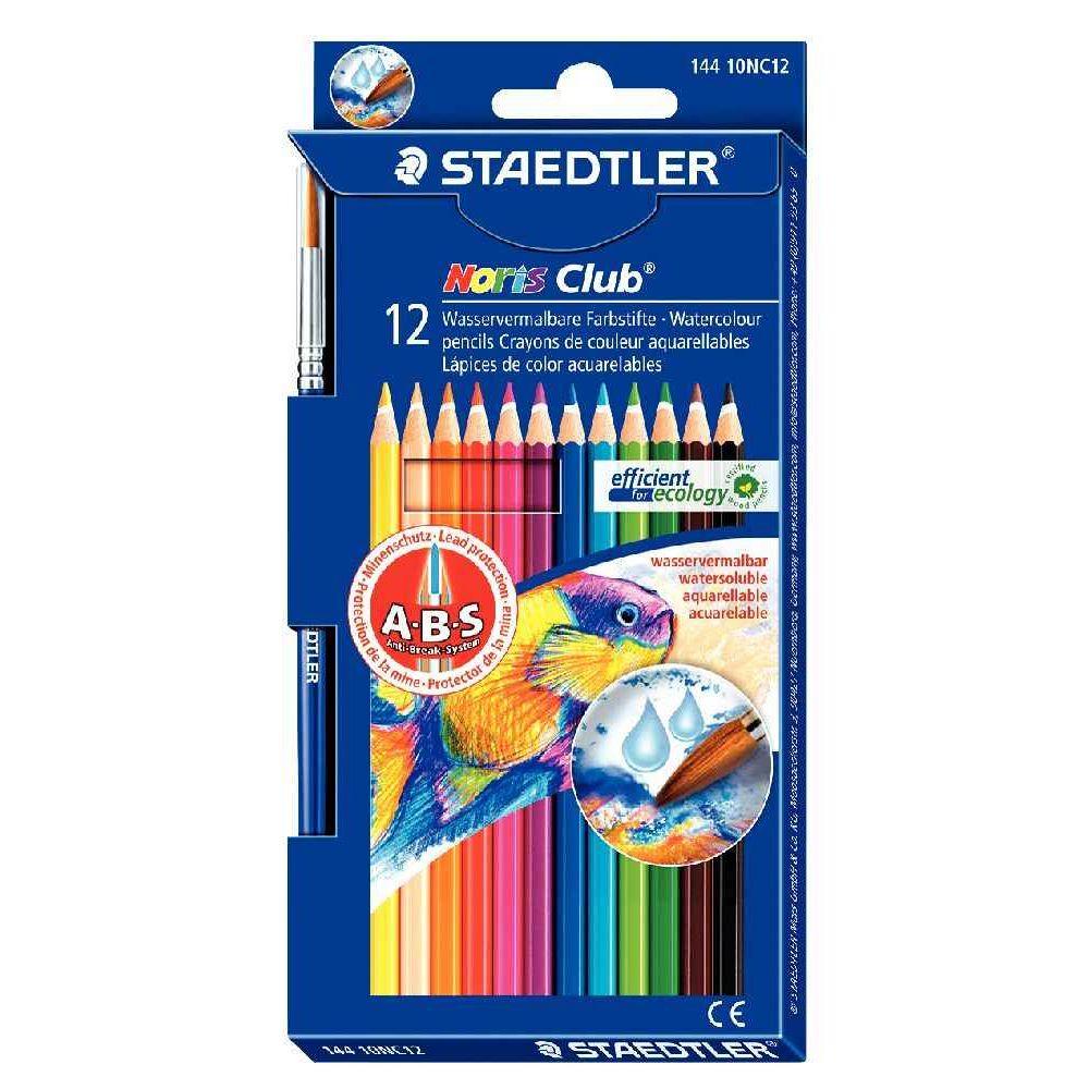 Crayons de couleur Noris Club Aquarell - Etui de 12