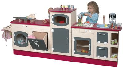Colonne frigo pour micro ondes en bois jb bois meubles de cuisine sur planet eveil - Cuisine en bois jouet alinea ...