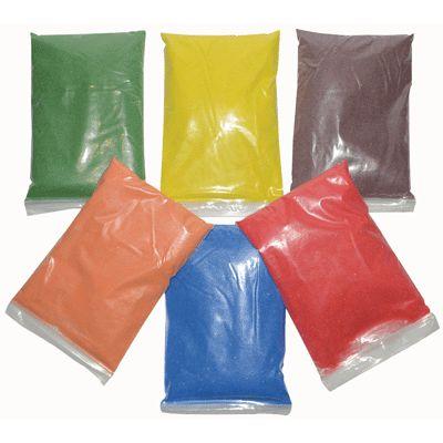 sable color 6 sali res vides couleurs vives lot de 6 sacs de 500g sable sur planet eveil. Black Bedroom Furniture Sets. Home Design Ideas
