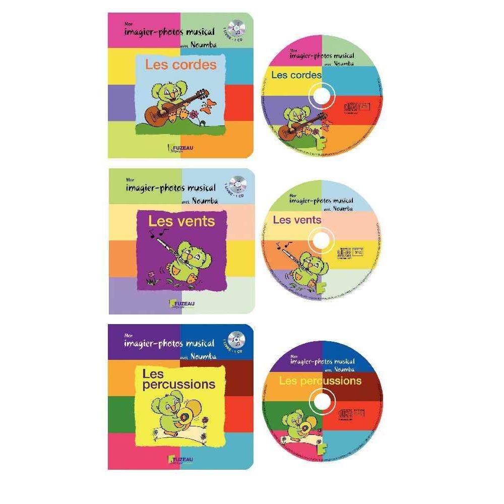 Imagiers musicaux + CD - Lot de 3